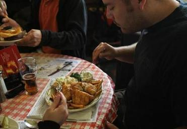 Doyle's Cafe in Jamaica Plain replaced fresh cod with previously frozen Pacific cod, which costs about half the price.